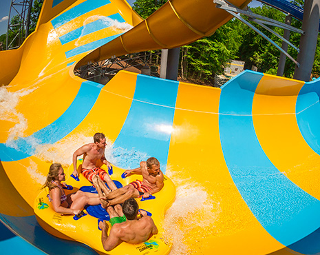 Adventure Island Tampa waterpark Colossal Curl water slide