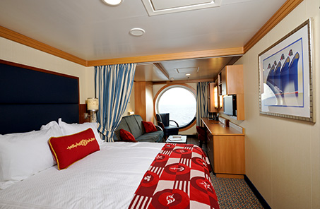 Disney cruise ship stateroom